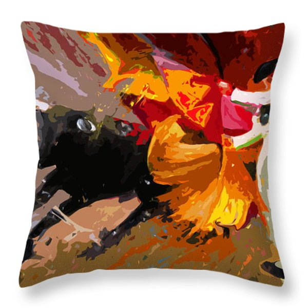 Toroscape 04 Throw Pillow by Miki De Goodaboom