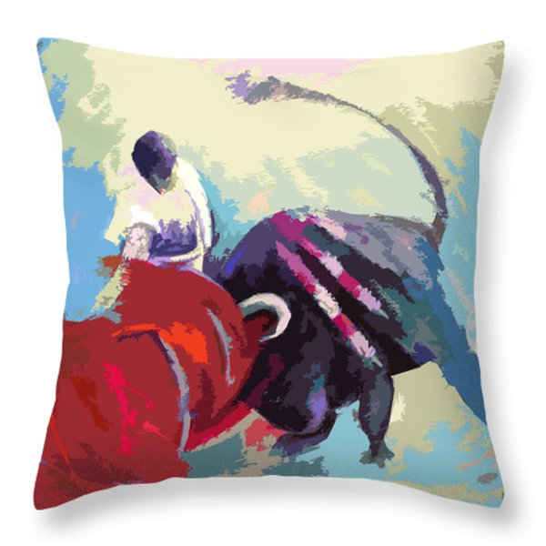 Toroscape 33 Throw Pillow by Miki De Goodaboom