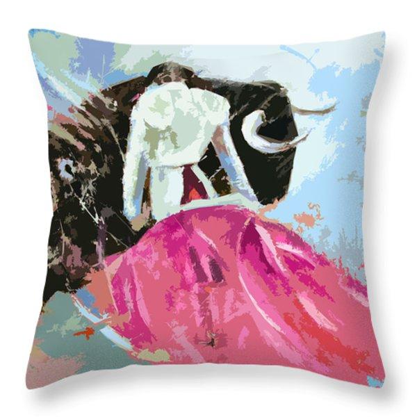Toroscape 34 Throw Pillow by Miki De Goodaboom