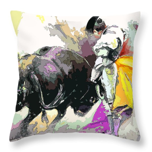 Toroscape 39 Throw Pillow by Miki De Goodaboom