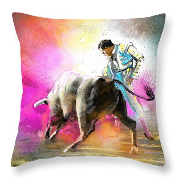 Toroscape 44 Throw Pillow by Miki De Goodaboom