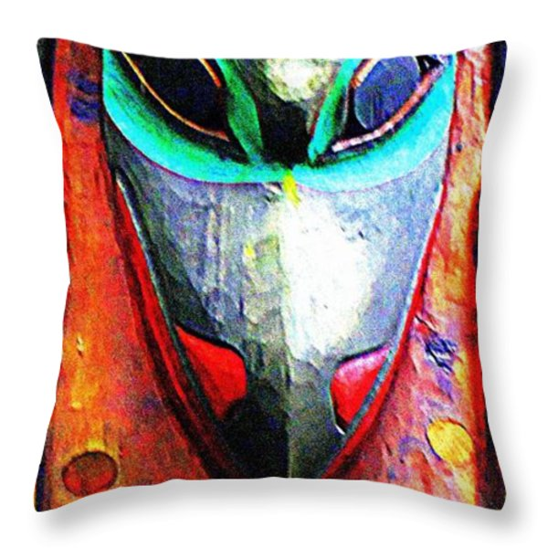 Totem 7 Throw Pillow by Randall Weidner
