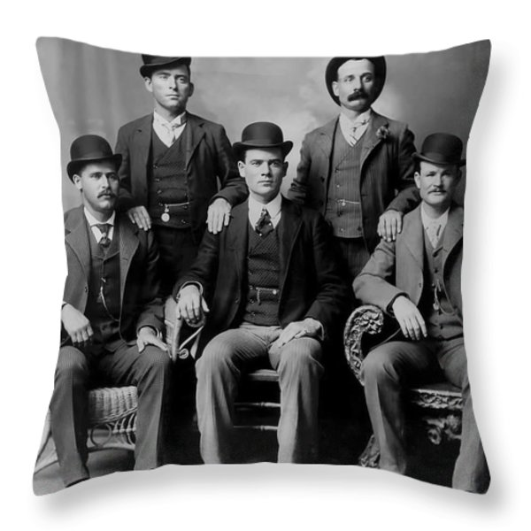 Tough Men Of The Old West 2 Throw Pillow by Daniel Hagerman