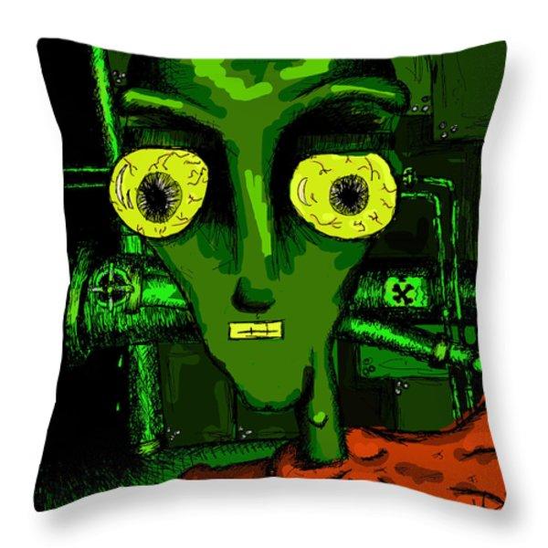 Toxic Man Throw Pillow by Jera Sky