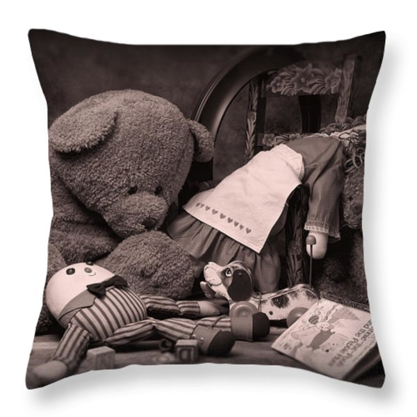 Toys Throw Pillow by Tom Mc Nemar