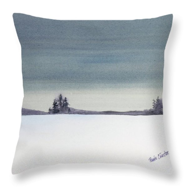 Tranquil Night Throw Pillow by Renee Chastant
