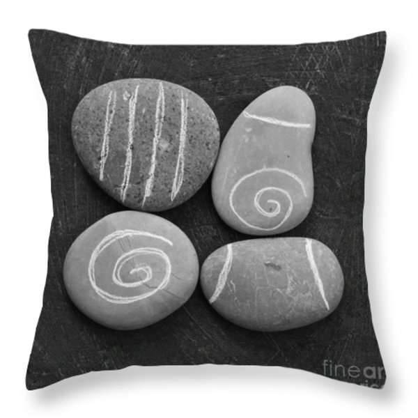 Tranquility Stones Throw Pillow by Linda Woods