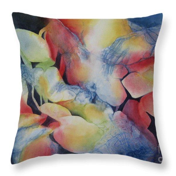 Transformation Throw Pillow by Deborah Ronglien