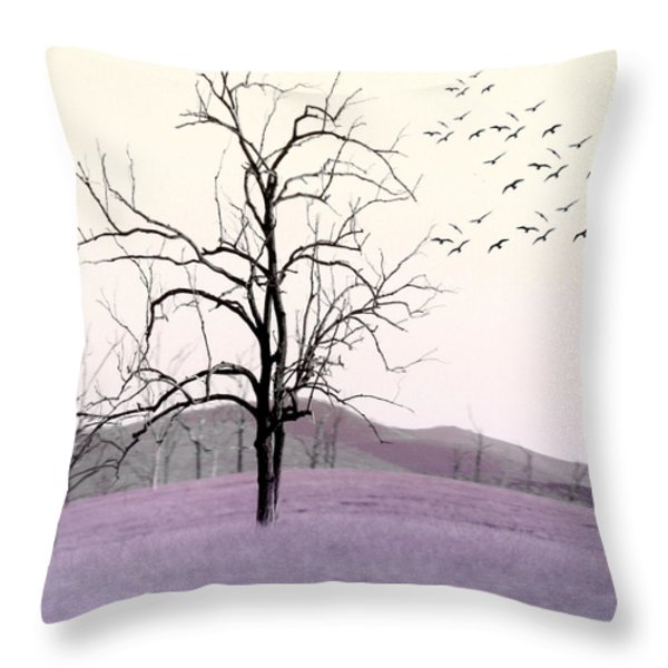 Tree Change Throw Pillow by Holly Kempe