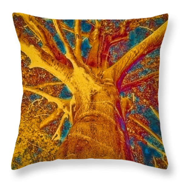 Throw Pillow featuring the painting Tree Crown by Frank Tschakert