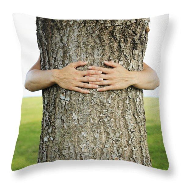 Tree Hugger 1 Throw Pillow by Brandon Tabiolo - Printscapes