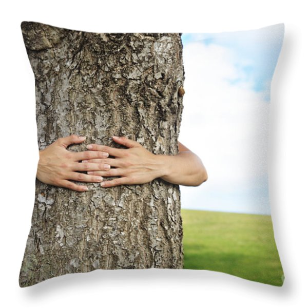 Tree Hugger 2 Throw Pillow by Brandon Tabiolo - Printscapes