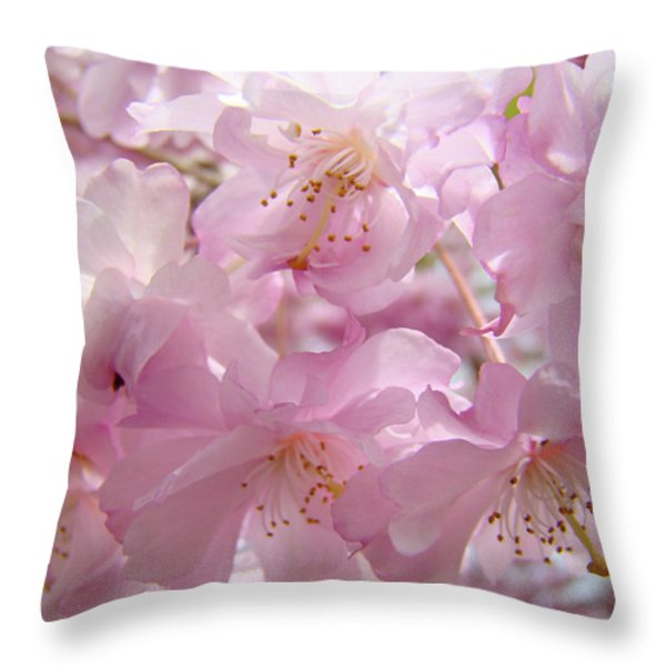 Tree Spring Pink Flower Blossoms art print Baslee Troutman Throw Pillow by Baslee Troutman