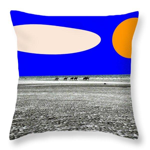 TREKKING Throw Pillow by Patrick J Murphy
