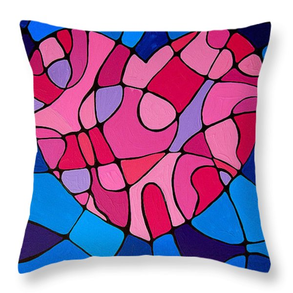 Treu Love Throw Pillow by Sharon Cummings