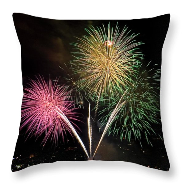Triple Color Throw Pillow by David Patterson