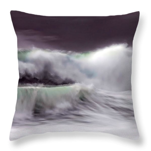 Tritan's Dance Throw Pillow by Donna Blackhall