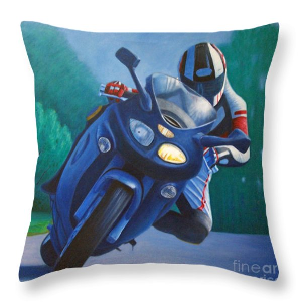 Triumph Sprint - Franklin Canyon Throw Pillow by Brian  Commerford