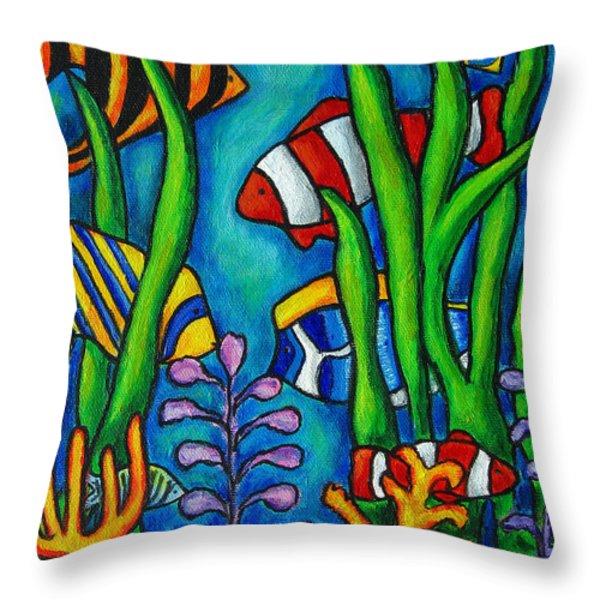 Tropical Gems Throw Pillow by Lisa  Lorenz