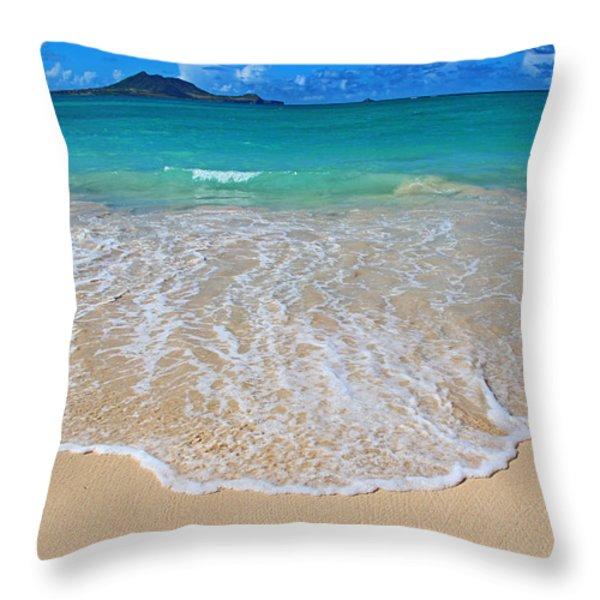 Tropical Hawaiian Shore Throw Pillow by Kerri Ligatich