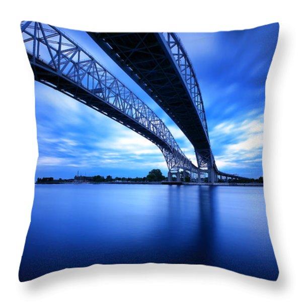 True Blue View Throw Pillow by Gordon Dean II