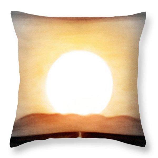 True God Throw Pillow by Gina De Gorna