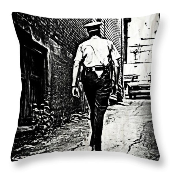 True Grit Throw Pillow by John Malone
