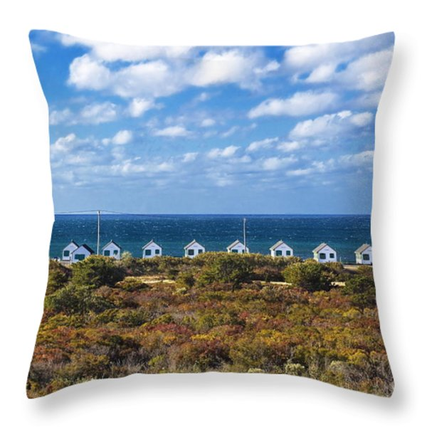 Truro Cottages Throw Pillow by John Greim