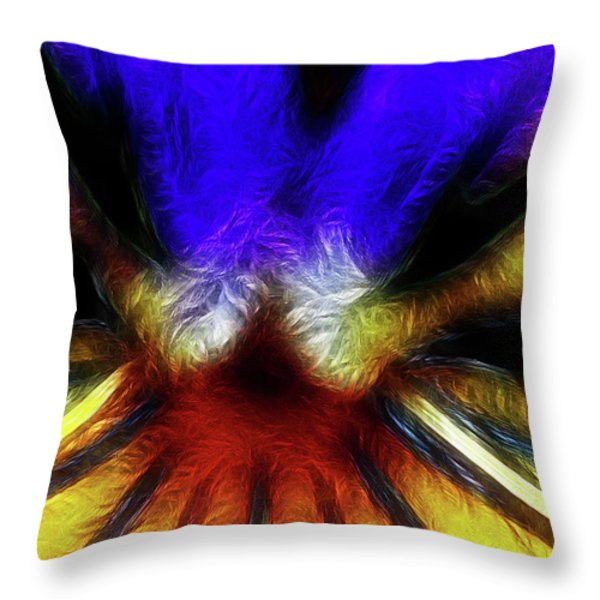 Trying to Fit Into a Size Two Throw Pillow by Wingsdomain Art and Photography