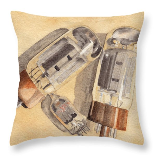 Tubes Throw Pillow by Ken Powers