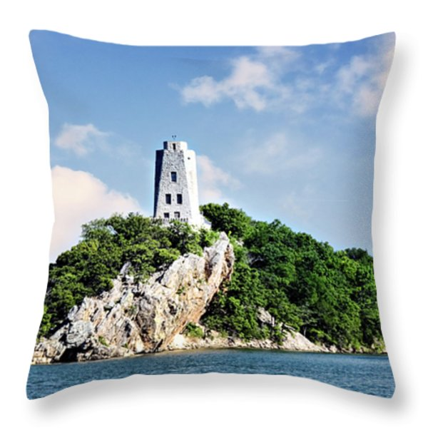 Tucker Tower 2 Throw Pillow by Lana Trussell