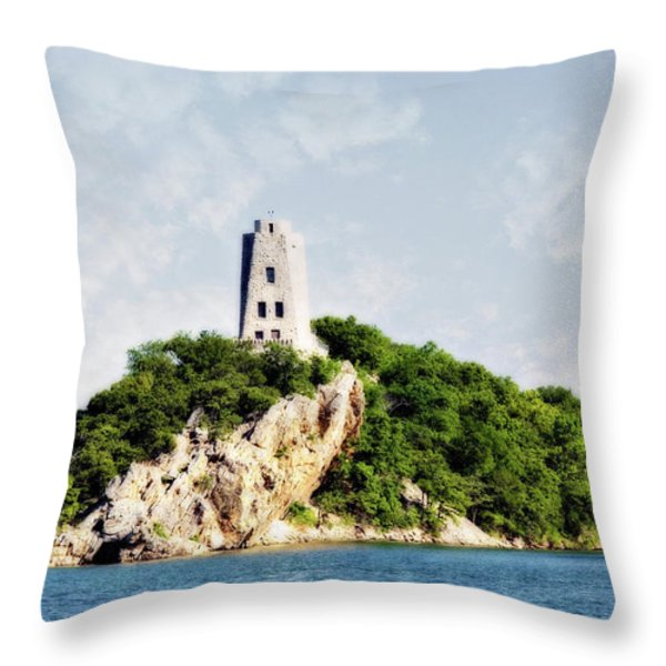 Tucker Tower Throw Pillow by Lana Trussell