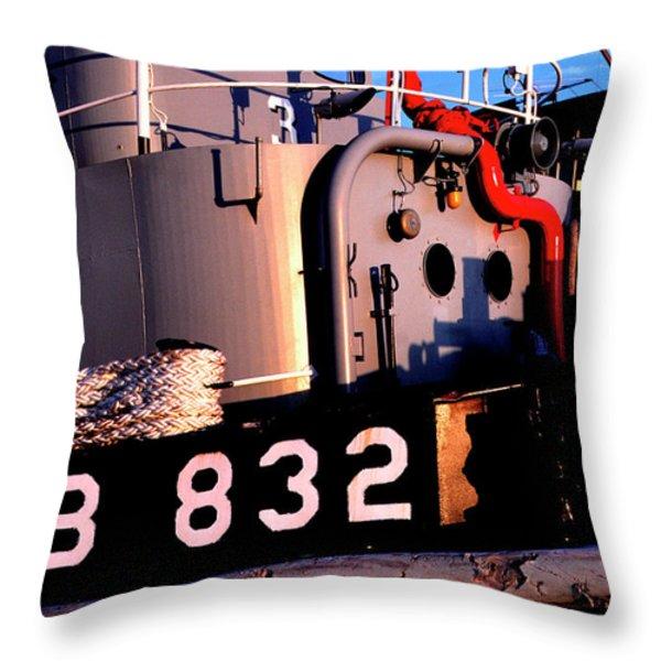 Tug Boat Throw Pillow by Thomas R Fletcher