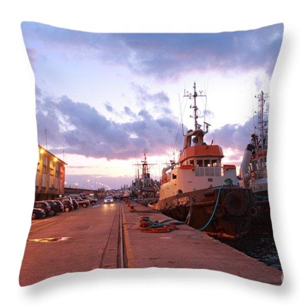 Tug Boats Throw Pillow by Gaspar Avila