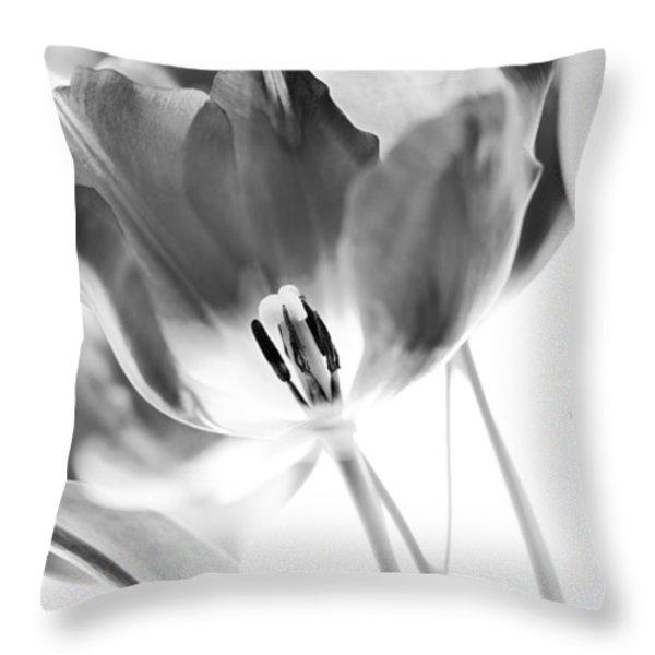 Tulips Throw Pillow by Silke Magino