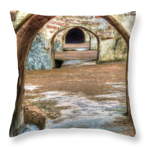 Tunnel Vision Throw Pillow by Michael Garyet