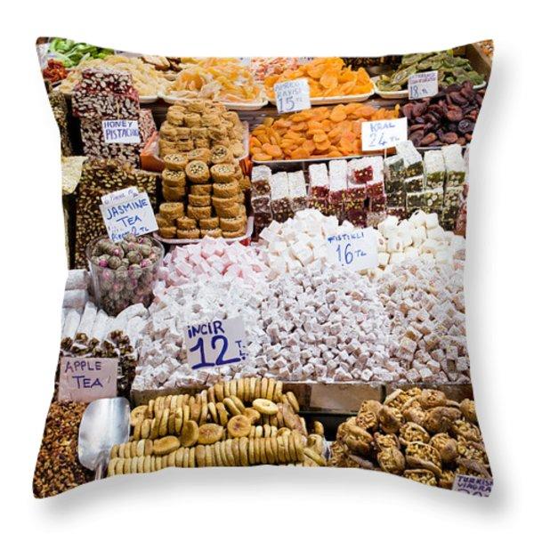 Turkish Delight In Istanbul Throw Pillow by Artur Bogacki