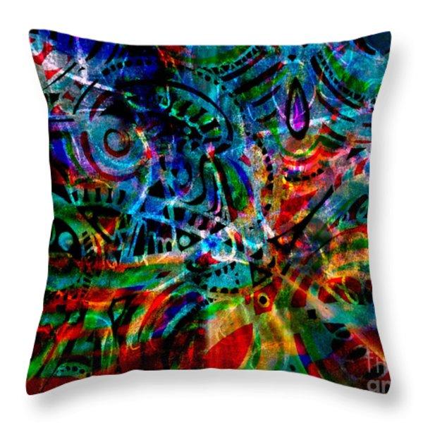 Turmoil Throw Pillow by WBK