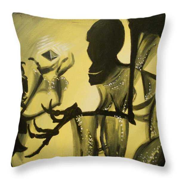 Turned It Thrice In His Hand Throw Pillow by Lisa Leeman