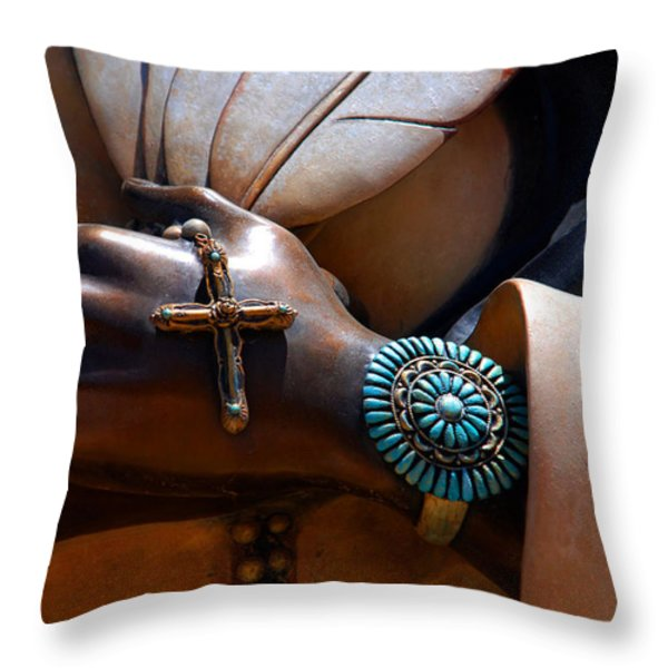 Turquoise Bracelet Throw Pillow by Susanne Van Hulst