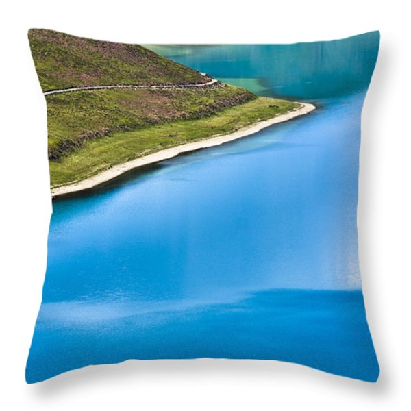 Turquoise Water Throw Pillow by Hitendra SINKAR