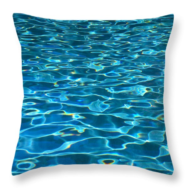 Turquoise Water Ripples Throw Pillow by Kyle Rothenborg - Printscapes