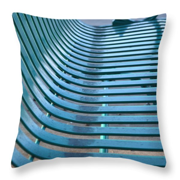 Turquoise Wave Throw Pillow by Jan Amiss Photography
