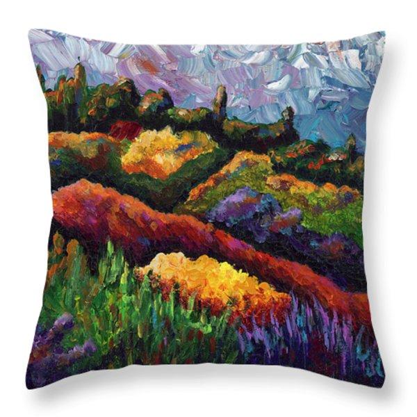Tuscan Hills At Sunset Throw Pillow by Shawna Elliott