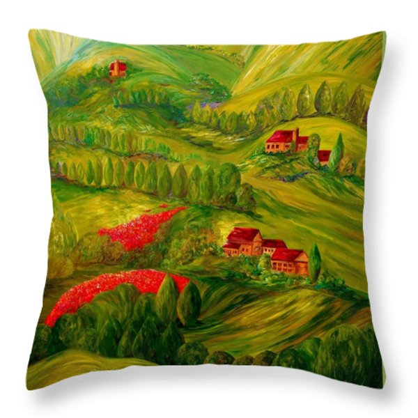 Tuscany at Dawn Throw Pillow by Eloise Schneider