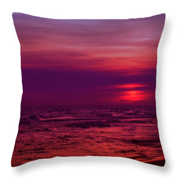 Twilight Throw Pillow by Sandy Keeton