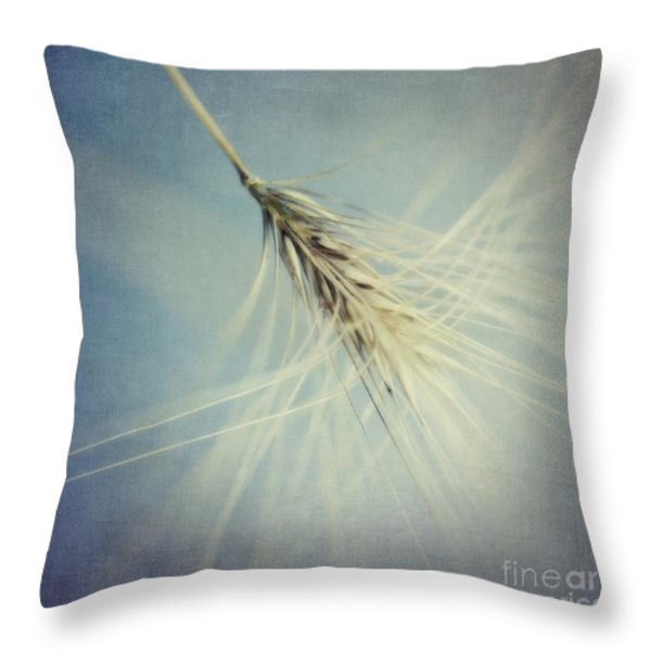 Twirling Throw Pillow by Priska Wettstein