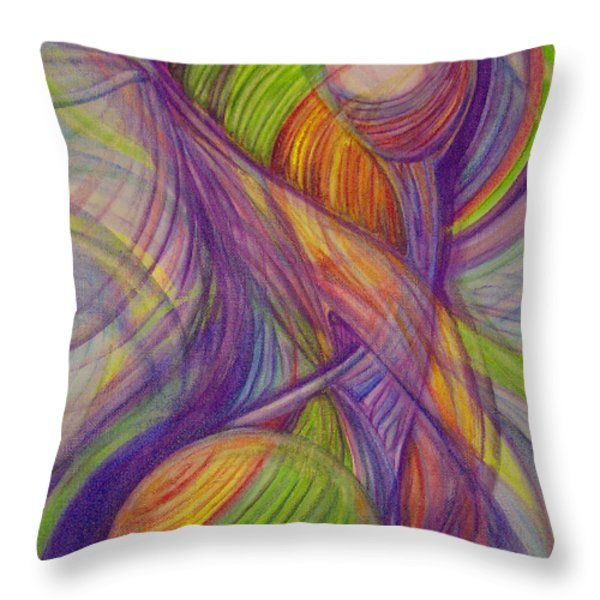 Twist Throw Pillow by Caroline Czelatko