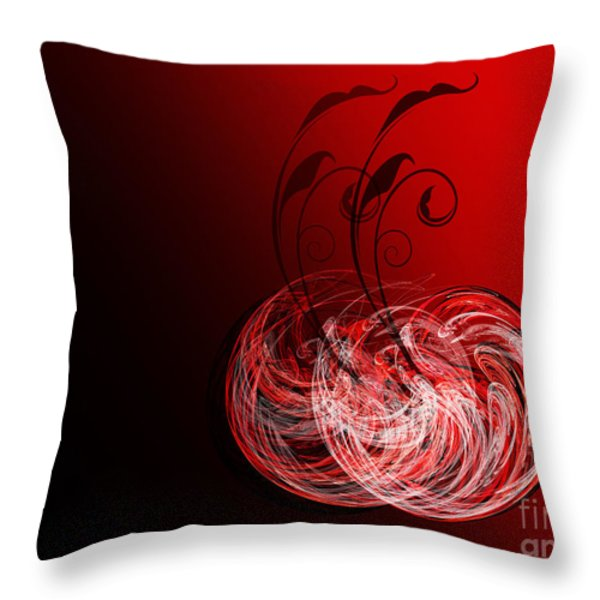 Two Cheery Cherries Throw Pillow by Andee Design