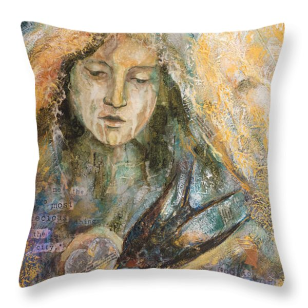 Two Most Precious Things Throw Pillow by Kate Bedell